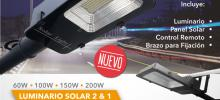 Lampara Solar Integrada, Todo en Uno, Two in One