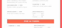 Comida corrida, entrega a domicilio, comida mexicana