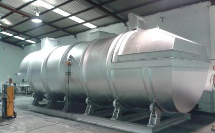horno fusor y mantenedor para fundicion de aluminio