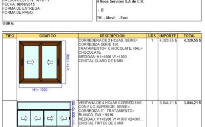 Cotizador de ventanas PVC alumnio