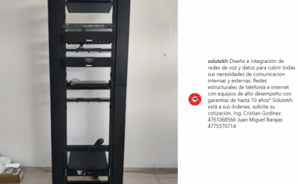 SITE IT SITE REDES NVR SWITCH RACK PANDUIT PANEL DE PARCHEO