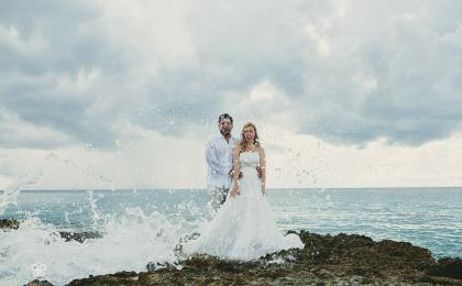 trash the dress en Playa del Carmen