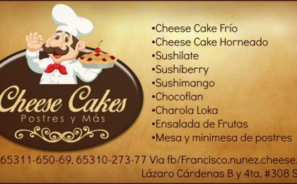 menu de Cheese Cakes