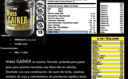massgainer, metanutrition, ganador, masa, subir, musculo, super, mass, gainer.