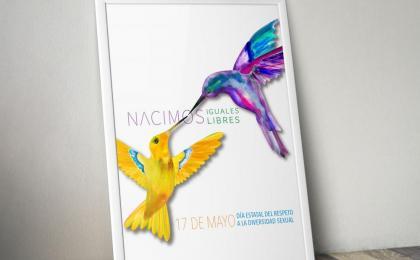 nacimos libres, cartel, colibri, diversidad, sexual,