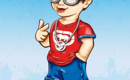 Diseño de Personaje mascota publicitaria niño Aguascalientes Mexico