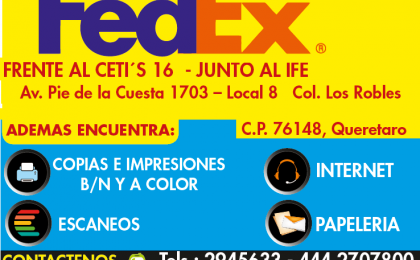 fedex pie de la cuesta
